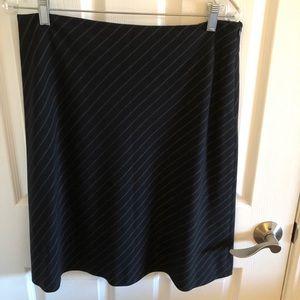 Black striped A line skirt